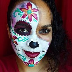 I painted this but the original design is from Lisa Joyoung Long Island City, Face Art, Halloween Face Makeup, Lisa, Nyc, The Originals, Painting, Design, Painting Art