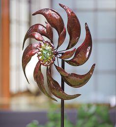Elegant #Leaves Metal #Garden #Spinner   Wind Spinners U0026 Whirligigs    Pinterest   Leaves, Metals And Gardens