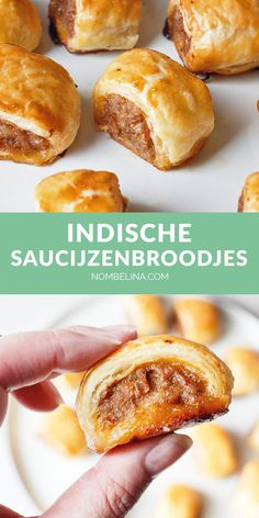 Indische saucijzenbroodjes #recept #snack Indian Food Recipes, Asian Recipes, Sweet Recipes, Indonesian Cuisine, Indonesian Recipes, Tapas, Onion Soup Recipes, Dutch Recipes, Snacks Für Party