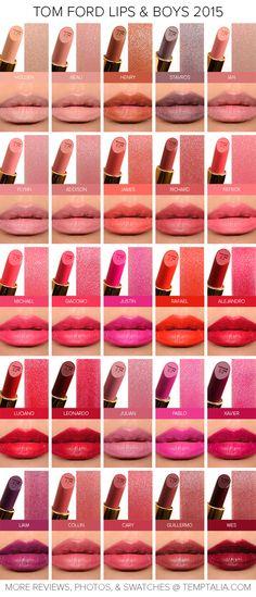 Sneak Peek: Tom Ford Lips & Boys 2015 Swatches & Photos (Returning Shades)