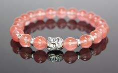 Cherry Quartz Buddha Bracelet By Kanti Design| http://www.amazon.com/Cherry-Quartz-Bracelet-Kanti-Design/dp/B017I9UPUK/