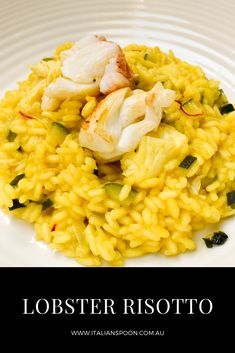 This dish takes under 30 minutes to make and is scrumptious. Serve with steamed combined veggies, rice and warm crusty entire wheat bread for a total meal. Italian Snacks, Italian Pasta Recipes, Lobster Recipes, Seafood Recipes, Cooking Recipes, Healthy Work Snacks, Healthy Recipes, Eat Healthy, Rice Recipes