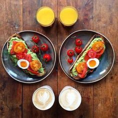 Symmetrical Breakfasts made with Love Every morning, photographer Michael Zee shows his love for his partner Mark van Beek cooking beautiful and delicious breakfasts. Before tasting, he captures the two set menu displayed in a symmetrical way and shares it on Instagram for the the enjoyment of his followers.