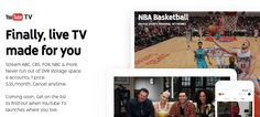 #Multimedia #youtube YouTube TV, la nueva apuesta de Google para competir con la TV tradicional