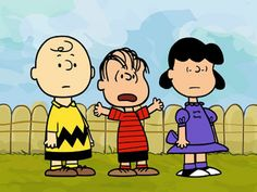 Charlie Brown,Linus and Lucy Van Pelt hang out listening to the youngest expound on something BIG !