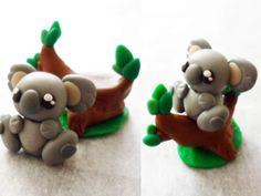 Polymer Clay Koala by Saru-Hime.deviantart.com on @deviantART