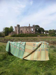 Vintage double sided Welsh tapestry blanket. by foundandseekvintage on Etsy