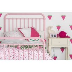 Pink Bed - Polly Pink Metal bed by Incy Interiors