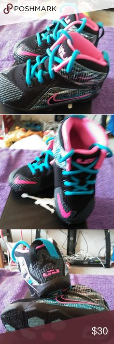 3061cbdd10f2 Baby Girls Nike Sneakers Baby Girls Sz 6 Nike Sneakers. Black with Pink