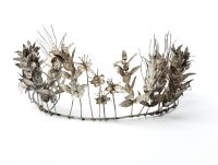 A rare mid 19th century white metal tiara c1850