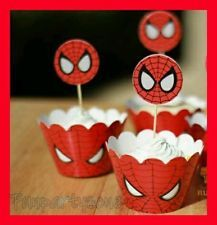 free printable cupcake wrappers and toppers with spiderman - Google Search