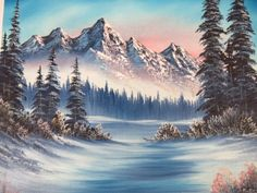 2 Signed Walt Burger Mountain Landscape Paintings - eisfee - Re-Wilding Famous Landscape Paintings, Nature Paintings, Acrylic Paintings, Abstract Landscape, Fantasy Landscape, Mountain Landscape, Winter Landscape, Pictures To Paint, Nature Pictures