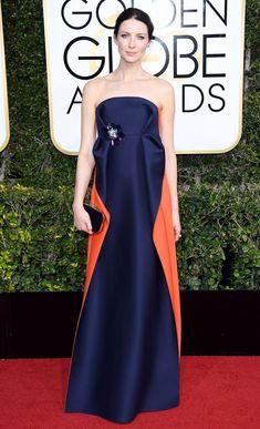 Caitriona Balfe Dress: Delpozo Golden Globe Awards 2017, Golden Globes After Party, Curvy Petite Fashion, Strapless Dress Formal, Formal Dresses, Dior Haute Couture, Caitriona Balfe, Red Carpet Looks, Red Carpet Dresses