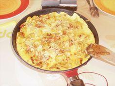 Recette d'Omelette à l'ancienne (oignon-lardon-pomme de terre)