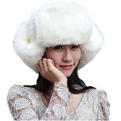 Partiss Womens Ear Protecting Thick Hat,one size,white Partiss
