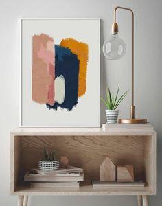 Art Painting For Home Decoration Diy Wall Art, Diy Art, Tableau Pop Art, Room Wall Painting, Abstract Wall Art, Blue Abstract, Abstract Shapes, Minimalist Art, Painting Inspiration
