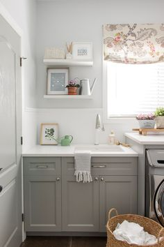 elliven studio: Bright and Airy Laundry Room Makeover!