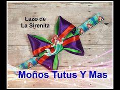 MOÑO LA SIRENITA  Paso a Paso PRINCESS ARIEL HAIR BOW Tutorial DIY How To PAP Lazo Princesa Ariel - YouTube