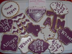 Texas Aggie Ring DaY Cookies bY Sweet Station, College Station, TX 690-7502.