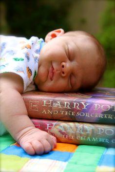 Laura Ladd Photograhy  Atlanta Baby Photographer  Books and baby Photoshoot Harry Potter