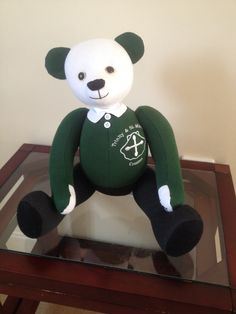 Memory Bear For My Grandson, Made From His Old Primary School Uniform.