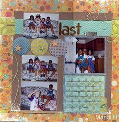 """Last Summer"" by cards4ever, as seen in the Club CK Idea Galleries. #scrapbook #scrapbooking #creatingkeepsakes"