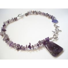 Amethyst Sterling Silver Druzy Agate Necklace Big Amethyst Stone... ($45) ❤ liked on Polyvore featuring jewelry, necklaces, birthstone pendants, druzy pendant, pendant necklaces, sterling silver necklace and amethyst pendant