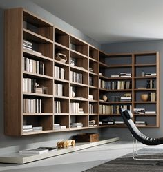 suspended bookshelf  via: stefanoandrighetto