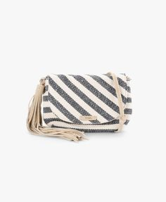 Navy Riviera Stripe Mix Cross-Body Bag | TOMS | SIVVI.COM