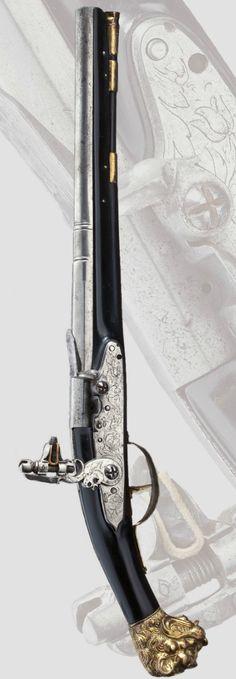 A Swiss flintlock pistol, ca 1640 A.D.