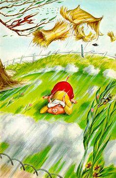 House of straw blown down - Three Little Pigs - Robert Lumley - Ladybird Book Craft Activities For Kids, Infant Activities, Pig Drawing, Pig Illustration, Ladybird Books, Classic Artwork, Three Little Pigs, Fairytale Art, Wolf