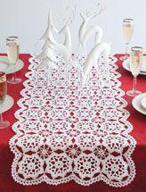 Easy Table crochet Runner pattern    Crochet Table Topper Patterns - Crochet Downloads