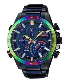 Casio Edifice Bluetooth Limited Edition (Special Edition Watch to Celebrate Its Partnership with Infiniti Red Bull Racing) Watch# (Men Watch) Amazing Watches, Beautiful Watches, Cool Watches, Army Watches, Sport Watches, Stylish Watches, Luxury Watches For Men, Radio Controlled Watches, Casio Vintage