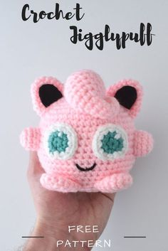 Create your own DIY amigurumi pattern creating your own Jigglypuff from Pokemon from this free crochet pattern!