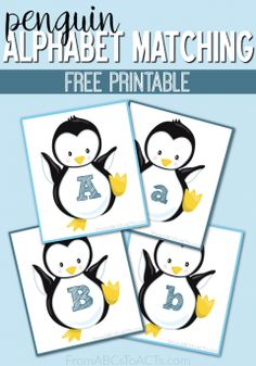 Snow and ice and all things cold, these penguin alphabet matching cards are the perfect way to make it feel a little bit more like winter this year!