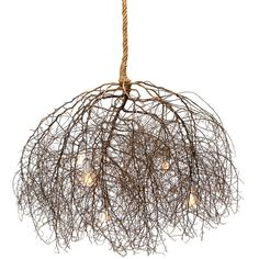 Same Tree Large Native Tumbleweed Chandelier (€2.645) ❤ liked on Polyvore featuring home, lighting, ceiling lights, tree lamp, light bulb chandelier, rope lamp, rope chandelier and tree lights