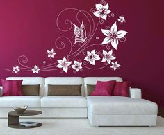 9 Gorgeous Painting ideas for bedrooms walls Creative Wall Painting, Creative Wall Decor, Wall Painting Decor, Stencil Painting On Walls, Bedroom Wall Colors, Living Room Colors, Bedroom Decor, Asian Paint Design, Cherry Blossom Bedroom