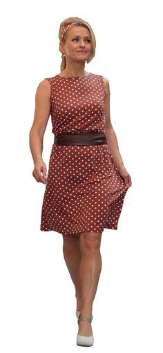 Tupfenkleid von klennes Jerseykleid im Pretty Woman Look.