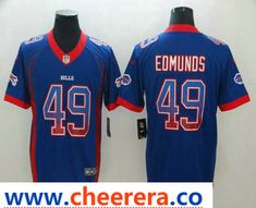 Men s Buffalo Bills  49 Tremaine Edmunds Blue 2018 Fashion Drift Color Rush  Stitched NFL Nike Limited Jersey 380b06131