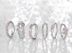 Exquisite silver and rose gold rings, perfect for any occasion!