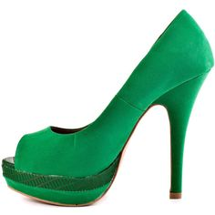 JustFab Women's Jovianne - Green ($51) ❤ liked on Polyvore featuring shoes, pumps, green pumps, green platform pumps, justfab, platform pumps and high heel shoes