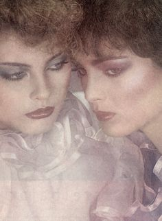 Kim Alexis & Esme Marshall for Revlon,1979