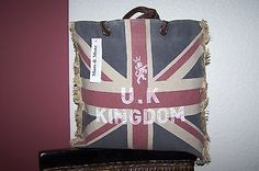 Mars & More Mars & More Vintage Union Jack Tasche England Flagge Lederriemen