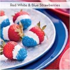 Red white blue strawberries!