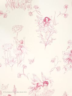 Flower Fairies™ - Nursery Tales Collection - Jane Churchill Fabrics & Wallpapers...because it makes me think about my @Dana Stokes