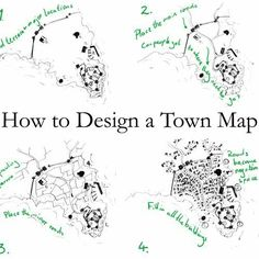 Drawing Tips How To Design A Town Map - Creating city maps can be hard. Here's four quick steps I use to design believable town and city maps. Book Writing Tips, Writing Prompts, Dungeons And Dragons, Fantasy Map Making, Fantasy City Map, Fantasy Town, Fantasy Demon, Rpg Map, Writing Fantasy