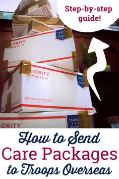 How to Send Care Packages for Troops Overseas – Idiot's Guide Military Deployment, Military Homecoming, Military Spouse, Military Cards, Soldier Care Packages, Deployment Care Packages, Military Units, Military Love, Military Girlfriend