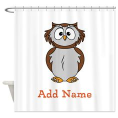 Custom Name Owl Shower Curtain on CafePress.com