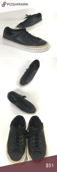 NEW Sam Edelman Black Leather Kavi Sneaker Sz 6.5 Sam Edelman Black Leather Kavi Espadrille Sneaker Size 6.5  New without box, Sam Edelman Shoes Sneakers