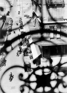 La Canebière Street, Marseilles – View Through the Balcony Grille